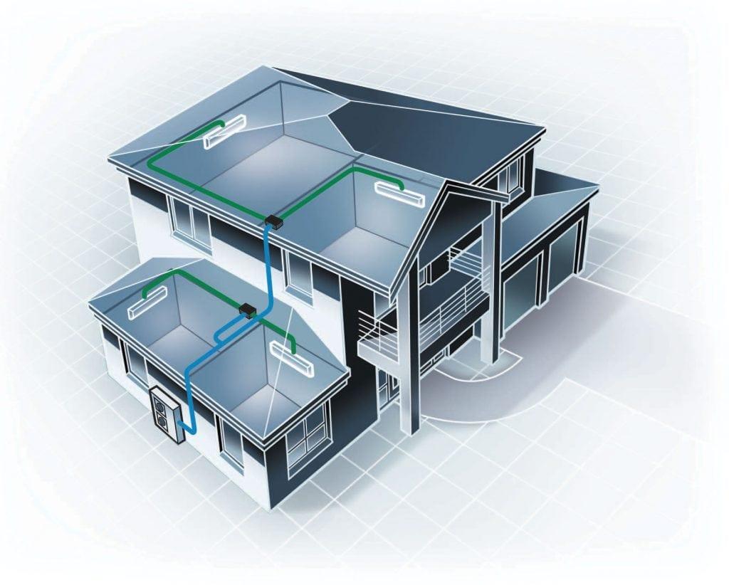 multi-head split system air conditioning
