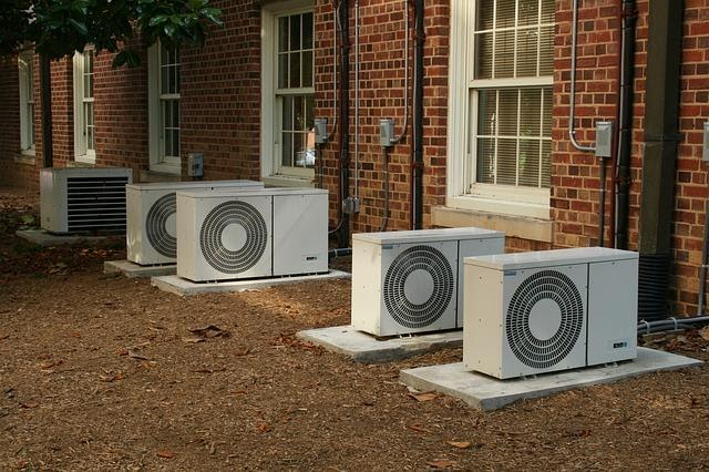 outside units of an air conditioning system